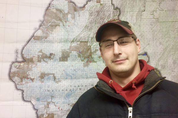 Bethel Search and Rescue member Tom Martini, 35, helped rescue the Kasayulie family when they drove into an open hole on the Kuskokwim River on New Year's Eve, December 31, 2017. (Anna Rose MacArthur / KYUK)