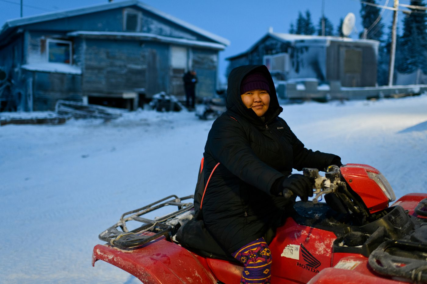 Sophie Cleveland said lack of enough homes is a big problem in Noorvik. Photogrpahed on December 4, 2018. (Marc Lester / ADN)