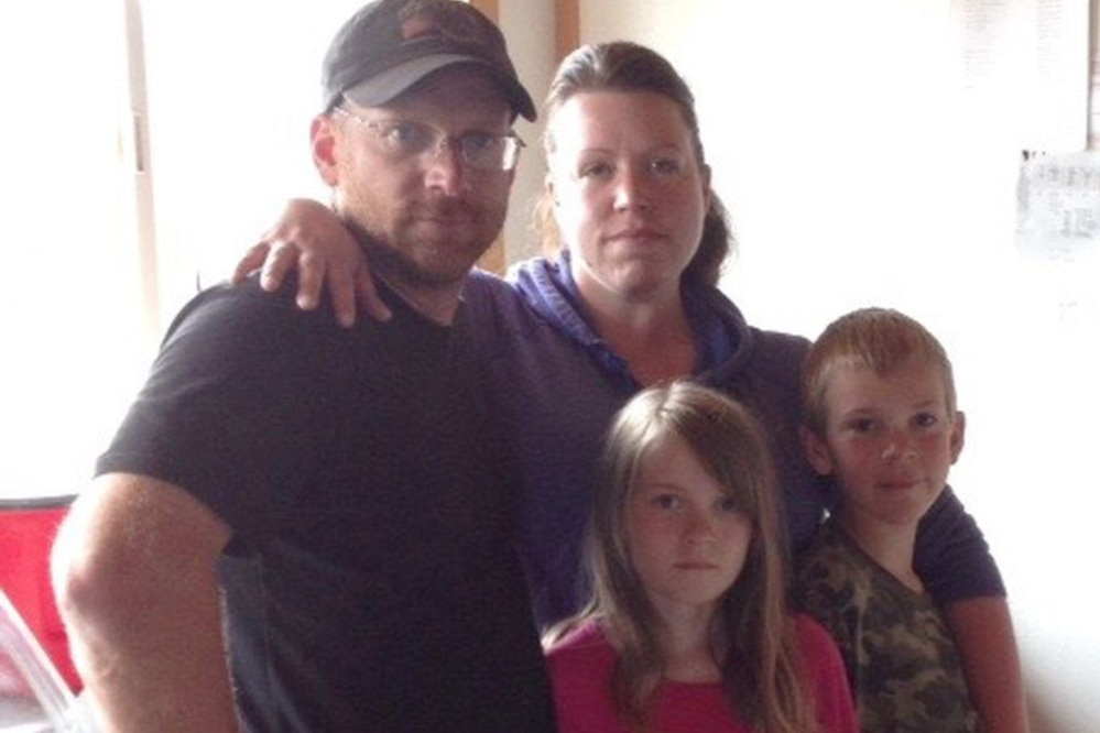 Travis Finkenbinder, wife Samantha, daughter Alyssa, son Taylor at Lake Clark in early June 2014. (Photo courtesy of Samantha Finkenbinder)