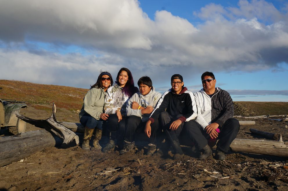 The Hepa family, photographed near Utqiagvik in 2014. From left are Taqulik, Lynette, Keoni, Kamaka and Roland. (Hepa family photo)