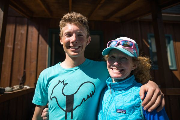 Canyon Tobin, 19, and his mom, Nora Miller, on Tuesday, June 12, 2018 at their home in South Anchorage. The pair climbed Denali unguided. (Loren Holmes / ADN)