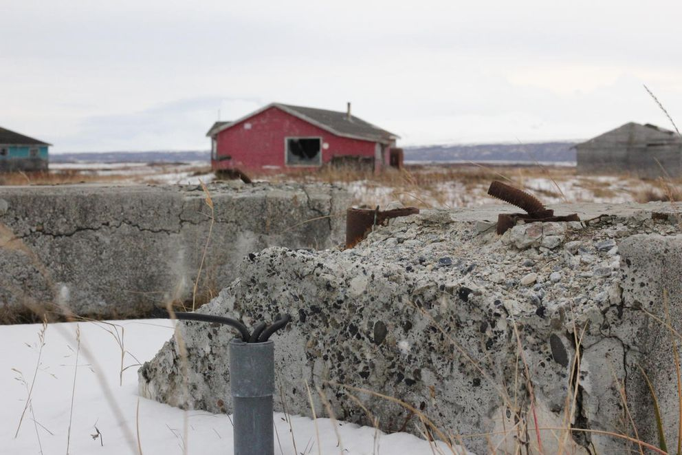 Port Heiden still hopes to remove the handful of old buildings that remain in the old village. (Avery Lill / KDLG)