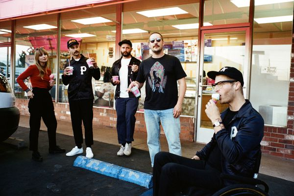 Portugal. The Man members grab some snacks. (Photo by Maclay Heriot)