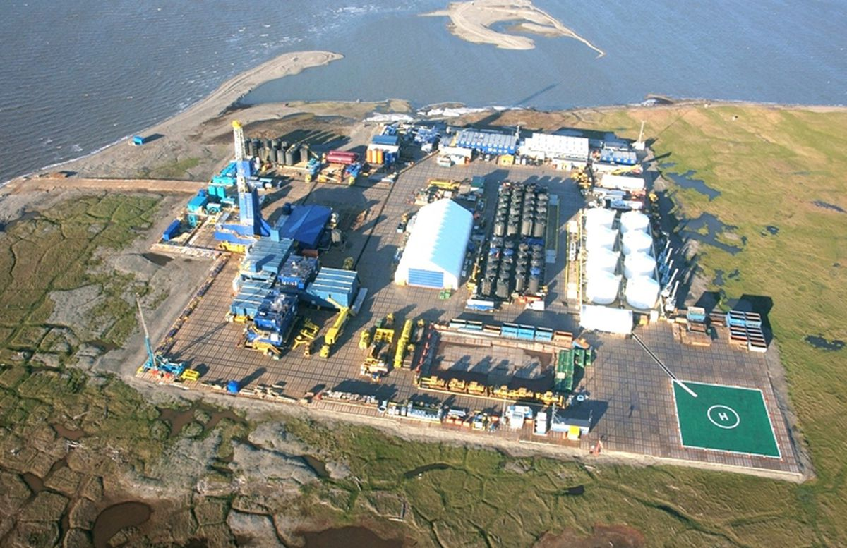 The ExxonMobil facility at Point Thomson in northern Alaska. (Business wire)