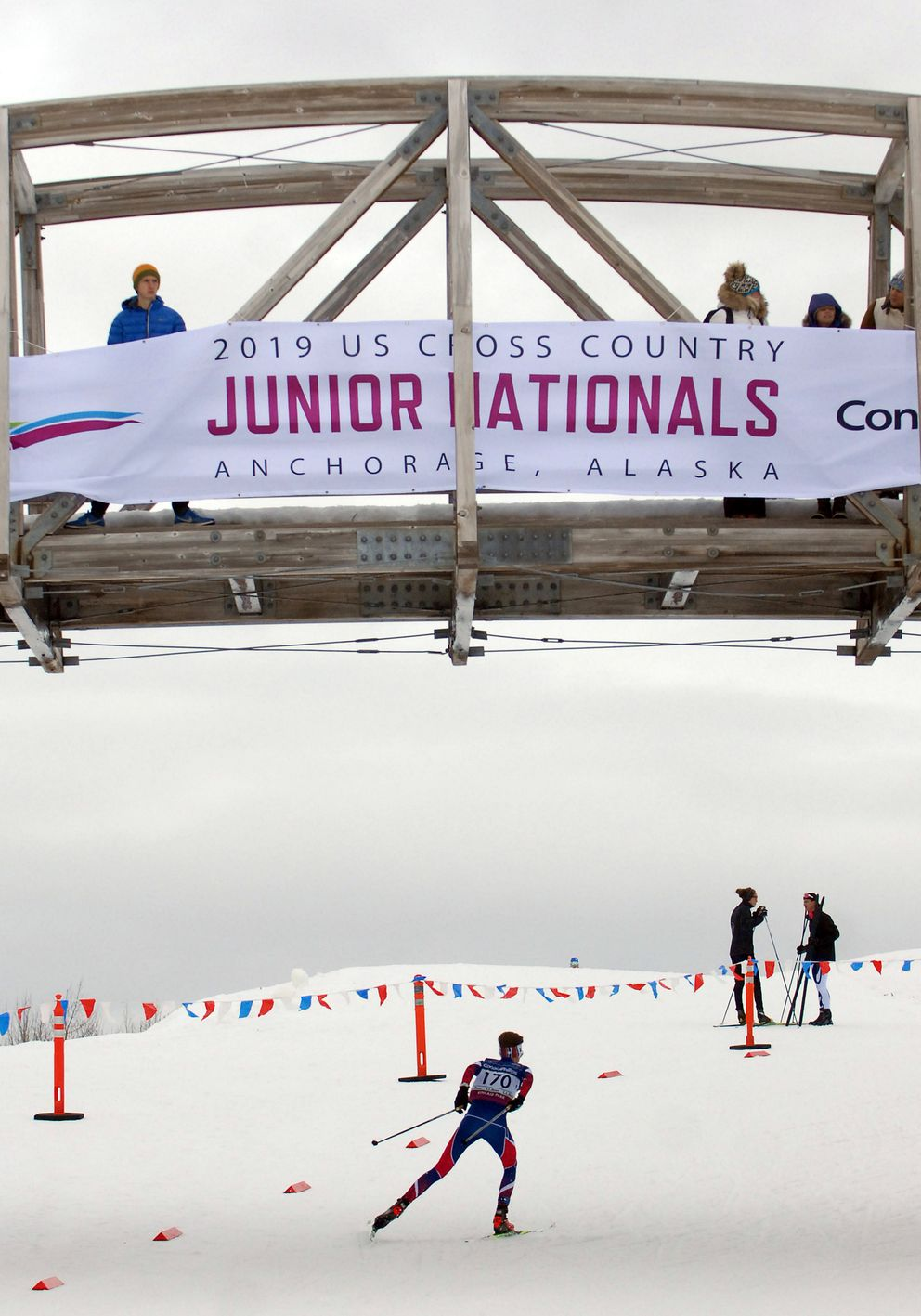 Skiers encountered rain and snow on the first day of racing Monday. (Matt Tunseth / ADN)