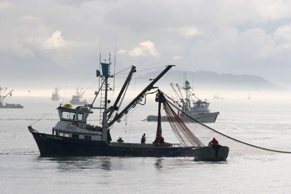 Megan Corazza's boat, the Centurion, hauls gear near the town of Valdez. (Photo courtesy Megan Corazza)