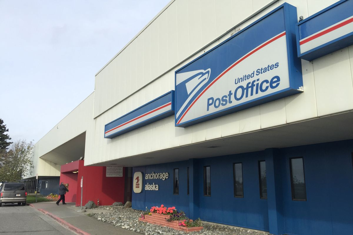 The U.S. Post Office near the Ted Stevens Anchorage International Airport. Oct. 10, 2017. (Bill Roth / Alaska Dispatch News)