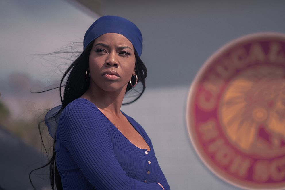 Brandee Evans stars as Mercedes, the club's main attraction. MUST CREDIT: Tina Rowden/Starz
