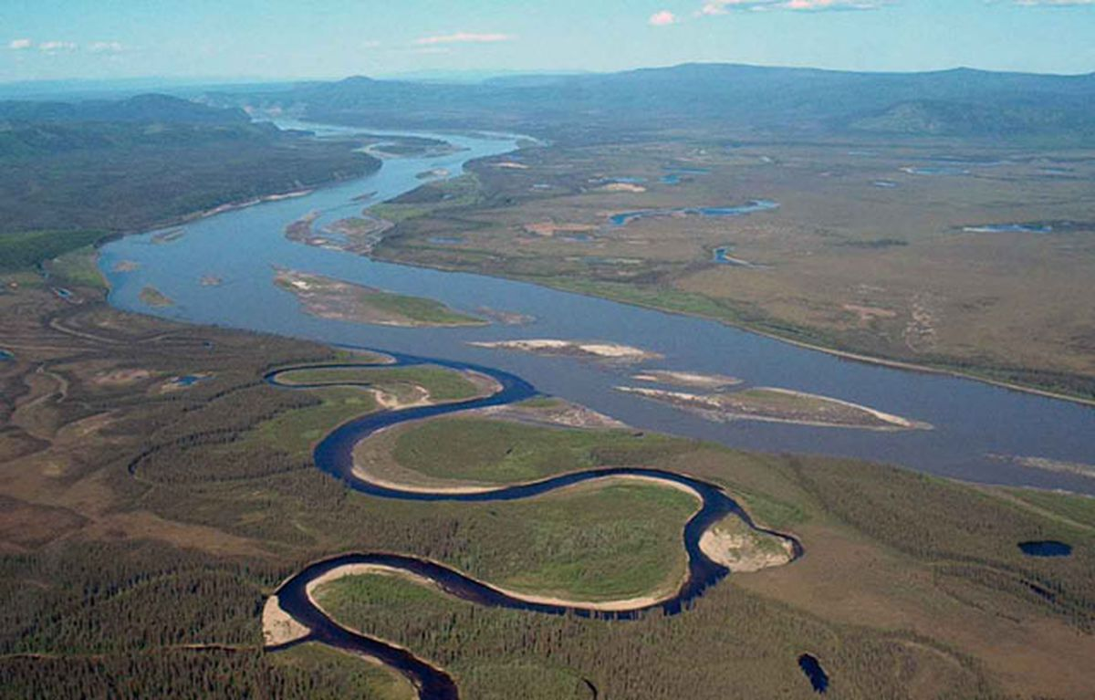 The Charley River at the Yukon River. (USGS photo)