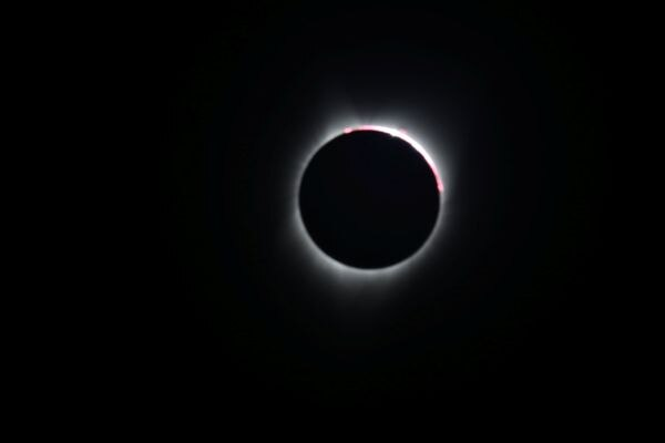 Solar Eclipse in Depoe Bay, Oregon, U.S. August 21, 2017. Location coordinates for this image are 44º48'35