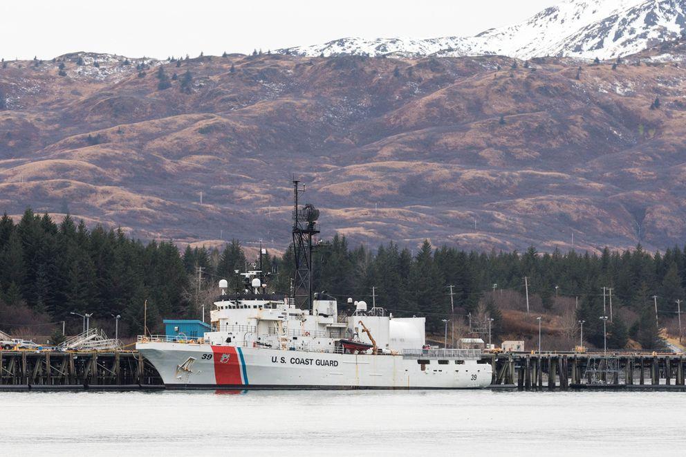 The cutter Alex Haley is docked at the Kodiak Coast Guard Base on Thursday, Jan. 24, 2019. (Loren Holmes / ADN)