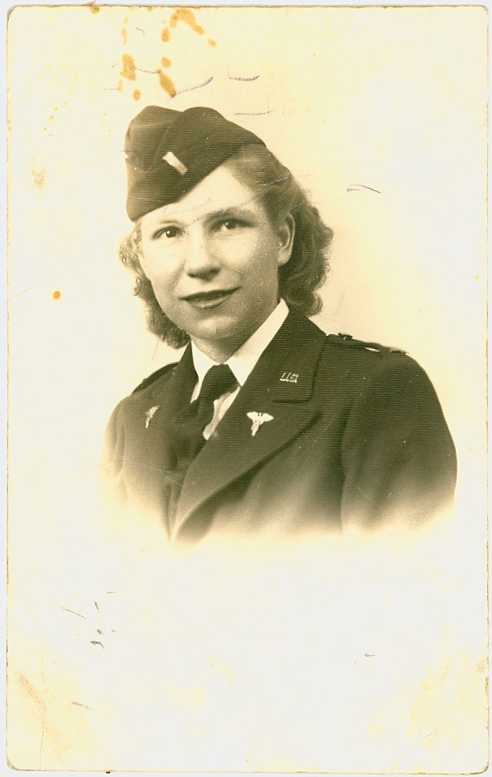 Eagle River's Charlotte Schwid was a WWII Army nurse who served on D-Day in 1944. Schwid will turn 100 on Wednesday. (Photo courtersy of Sharon White)