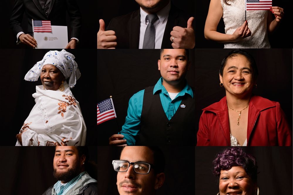 Forty-six people became U.S. citizens during a naturalization ceremony at the Anchorage Assembly Chambers on September 20, 2017.(Marc Lester / Alaska Dispatch News)