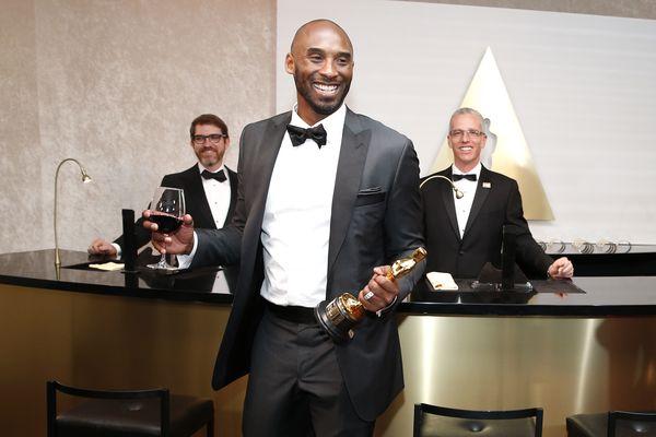 Kobe Bryant, winner of the award for best animated short for