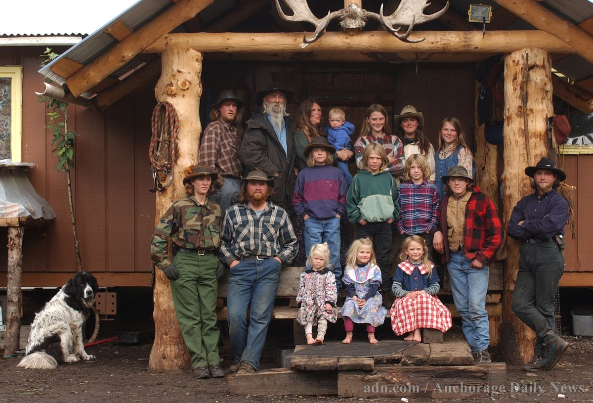 The Hale family, formerly known as the Pilgrim family, at their homestead near McCarthy in August 2003. (Marc Lester / ADN)