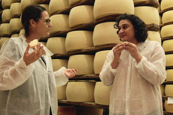 Samin Nosrat, right, stars in Netflix's new cooking show,