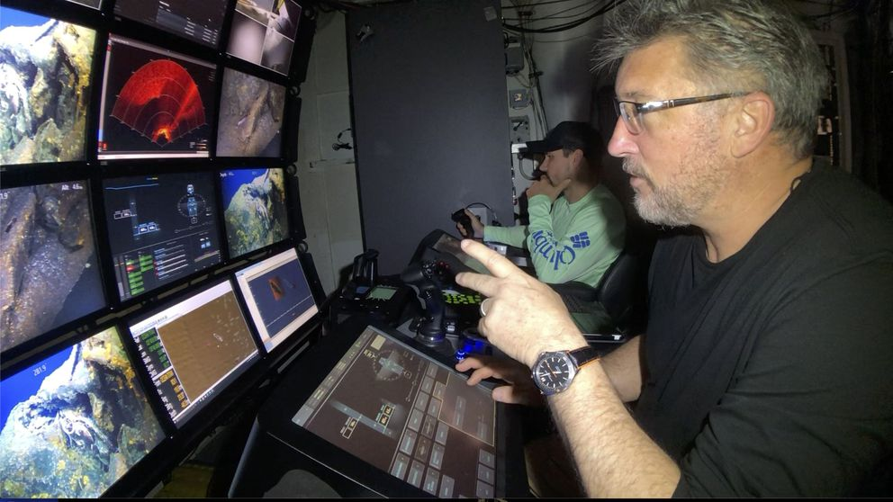 Tim Taylor and his team use unmanned undersea submersibles to locate the USS Grayback in more than 1,400 feet of water off Japan. (Tim Taylor-Lost 52 Project)