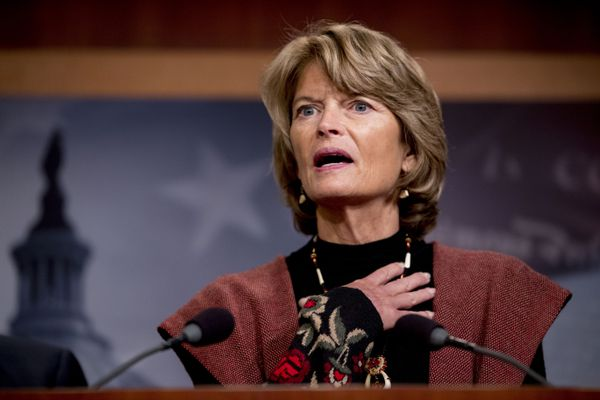 Sen. Lisa Murkowski, R-Alaska, speaks at a news conference after two Senate bills to ending the partial government shutdown failed on Capitol Hill in Washington, Thursday, Jan. 24, 2019. (AP Photo/Andrew Harnik)