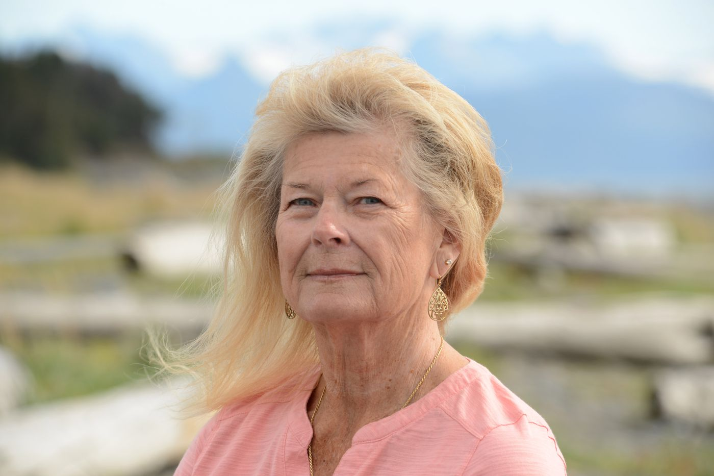 Karen Rhodes-Johnson in Homer, Alaska. Now retired from the Anchorage Police Department, she was the detective assigned to Sherri Stewart's case. (Anne Raup / ADN)