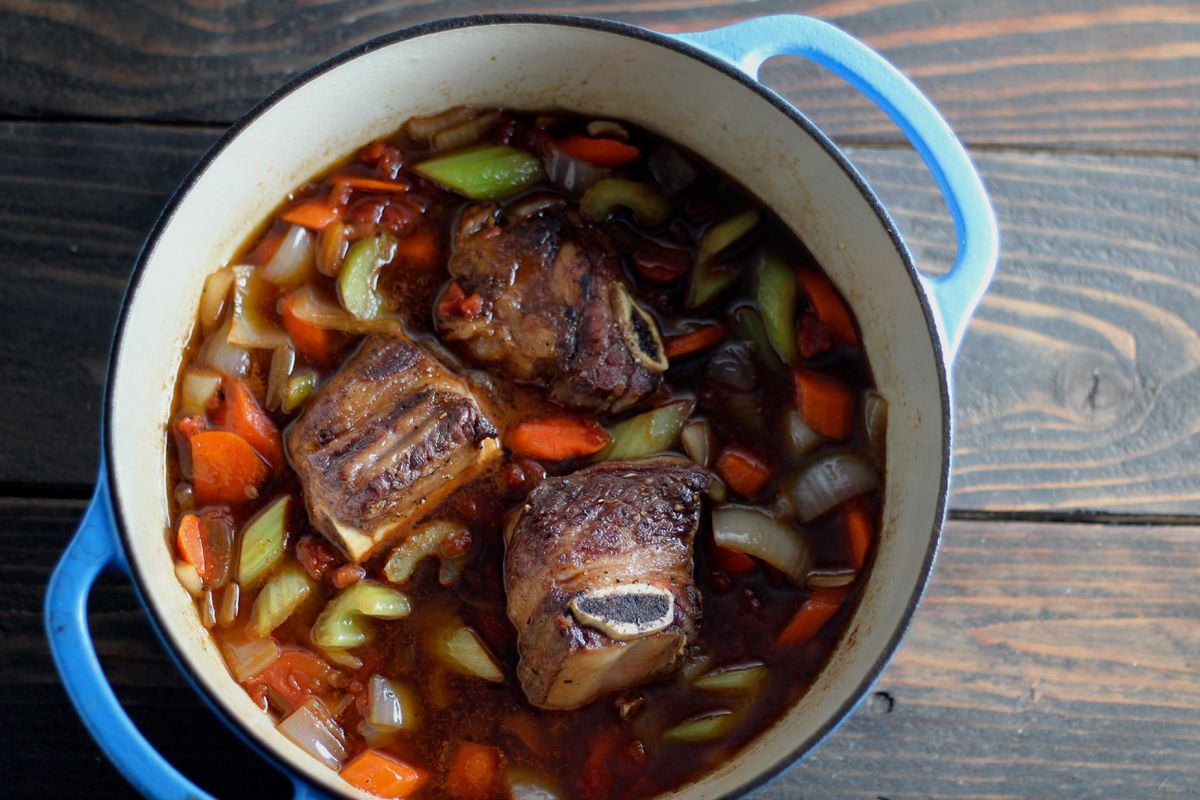 Red wine-braised short ribs (Photo by Maya Wilson / Alaska from Scratch)