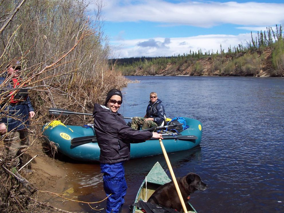 "The Fortymile River is suitable for both rafts and canoes. From the book ""Outside in the Interior."" (Kyle Joly)"