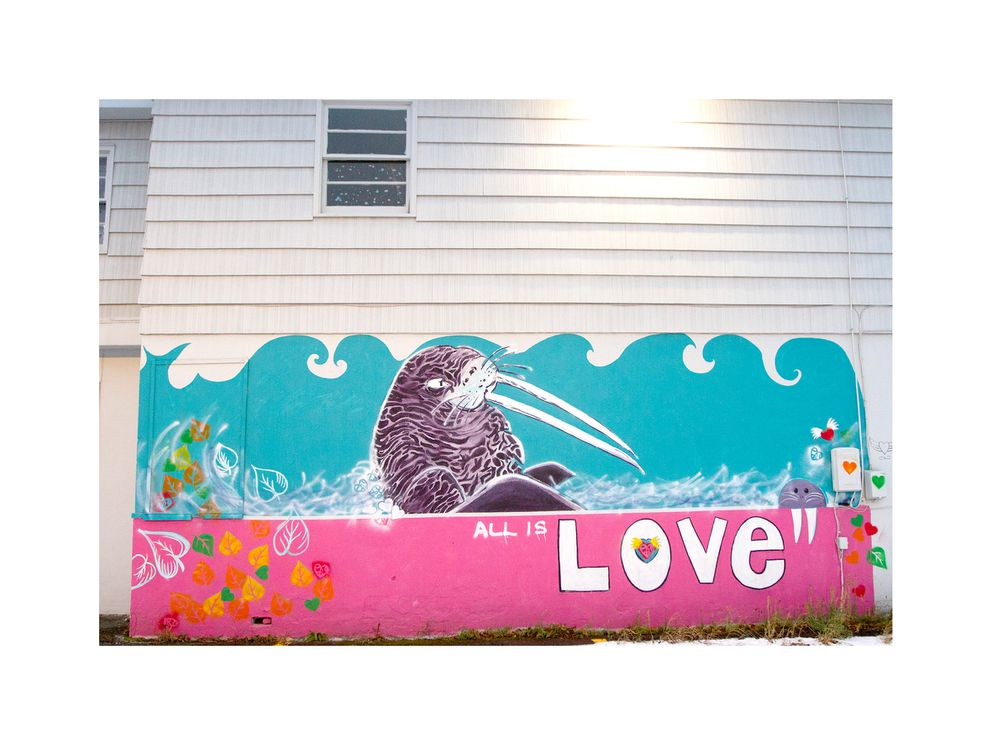 Mural outside the Church of Love. (Photo by Philip Hall)