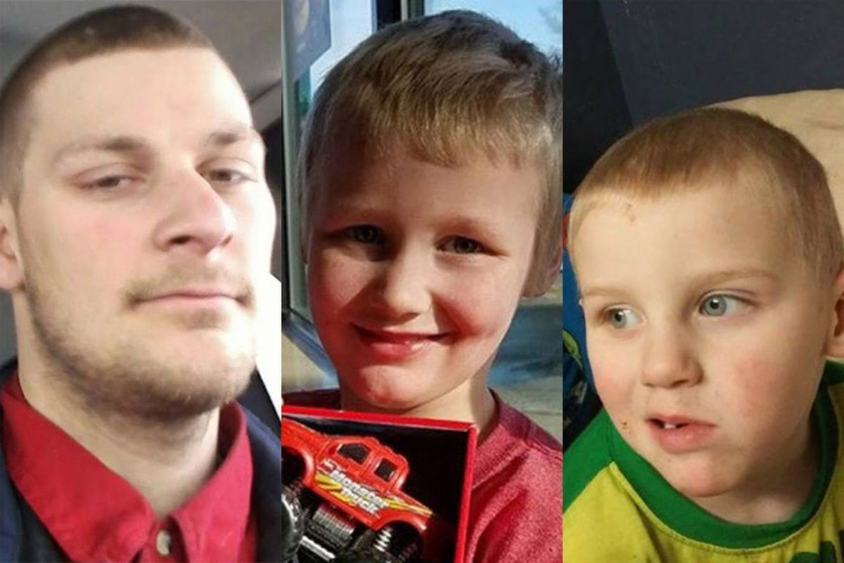 Johnathon Eyre, 28, and sons Jaxson, 4 and Johnathon LJ, 7, are missing from their Chena Hot Springs Road home near Fairbanks. (Alaska State Troopers)