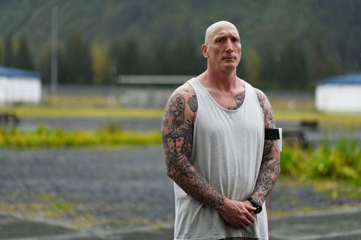 Kent Matte is one of two prisoners who provide peer mentorship to prisoners with mental health challenges, a job that pays him $1 an hour, he said. (Marc Lester / ADN)