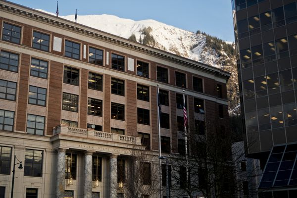 The Alaska State Capitol in Juneau on January 19, 2017. (Marc Lester / Alaska Dispatch News)