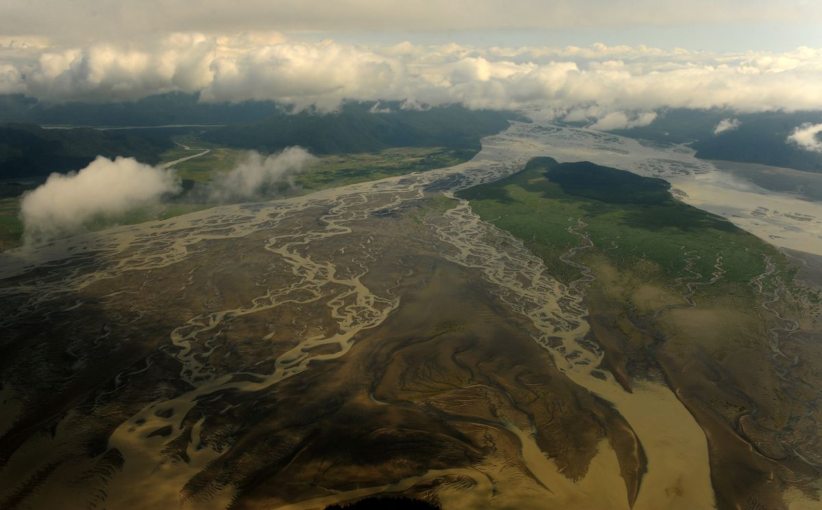 The Stikine River, near Wrangell, in Southeast Alaska. Plummeting king salmon populations across Southeast, in rivers that include the Stikine, are expected to lead to continued fishing restrictions next year. (Bob Hallinen / ADN)