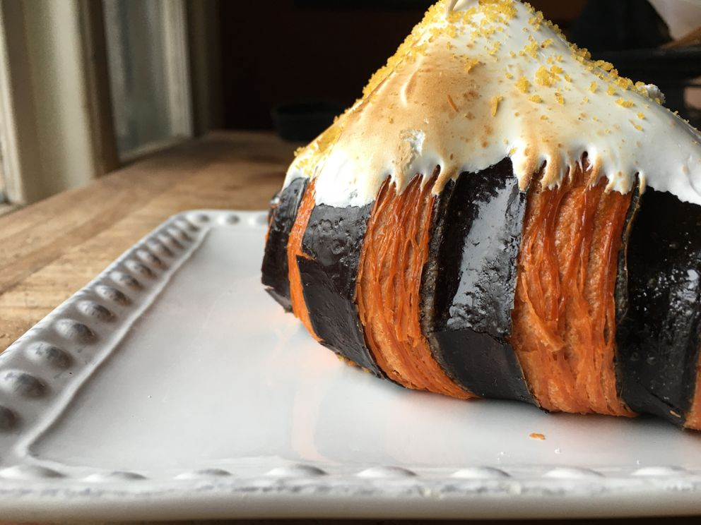 Pumpkin spice croissant with toasted meringue topping at Benji's Bakery & Cafe. (Photo by Mara Severin)