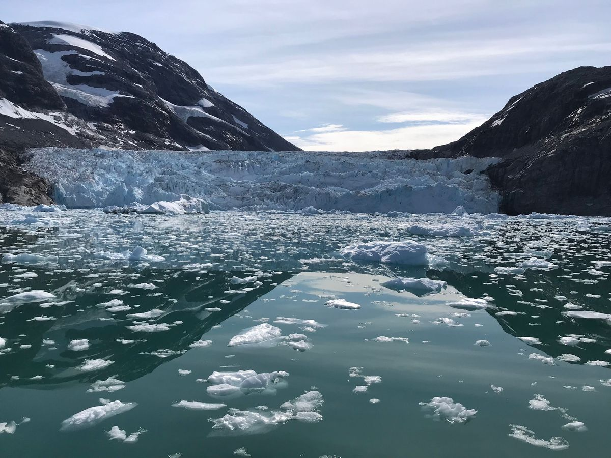 Tidewater glacier in Southeast Greenland, summer of 2018. (Courtesy of Eric Rignot via The Washington Post)