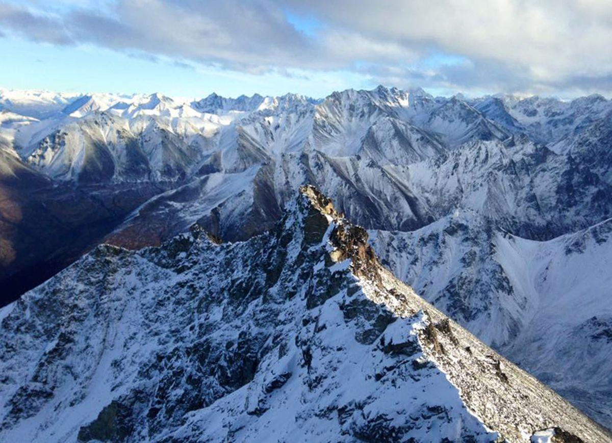 The view from the summit of Matanuska Peak on Nov. 12, 2016. (Vicky Ho / Alaska Dispatch News)