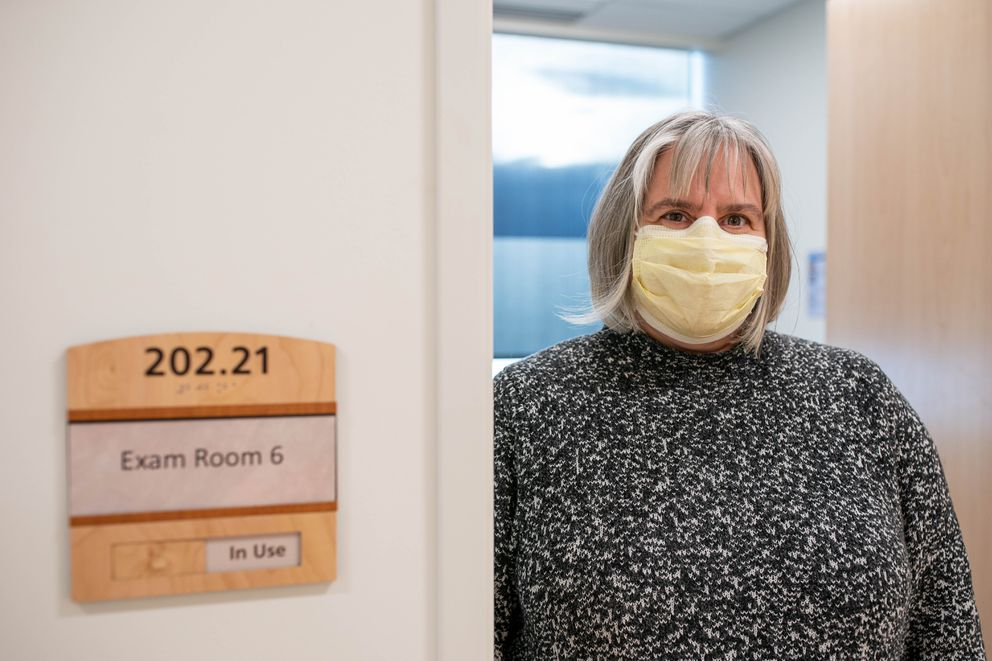 Dr. Szilvia Salamon, a family physician with Providence Alaska Medical Center, photographed at a Providence clinic in south Anchorage on Thursday, Jan. 21, 2021. (Loren Holmes / ADN)