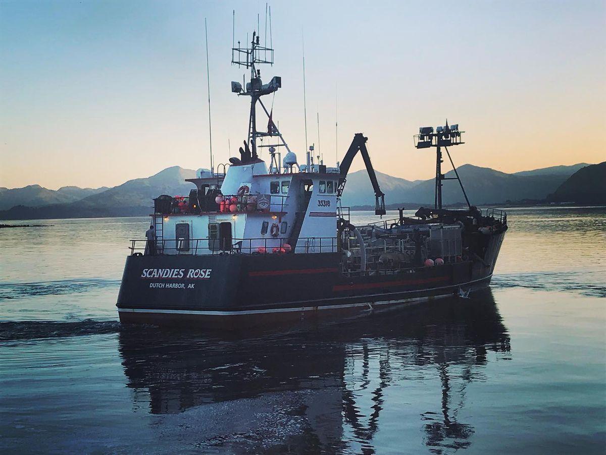 F/V Scandies Rose sank near Kodiak on Dec. 31. Photographed Aug. 15, 2019 at Ocean Beauty, Kodiak. (Photo by Bret Newbaker)