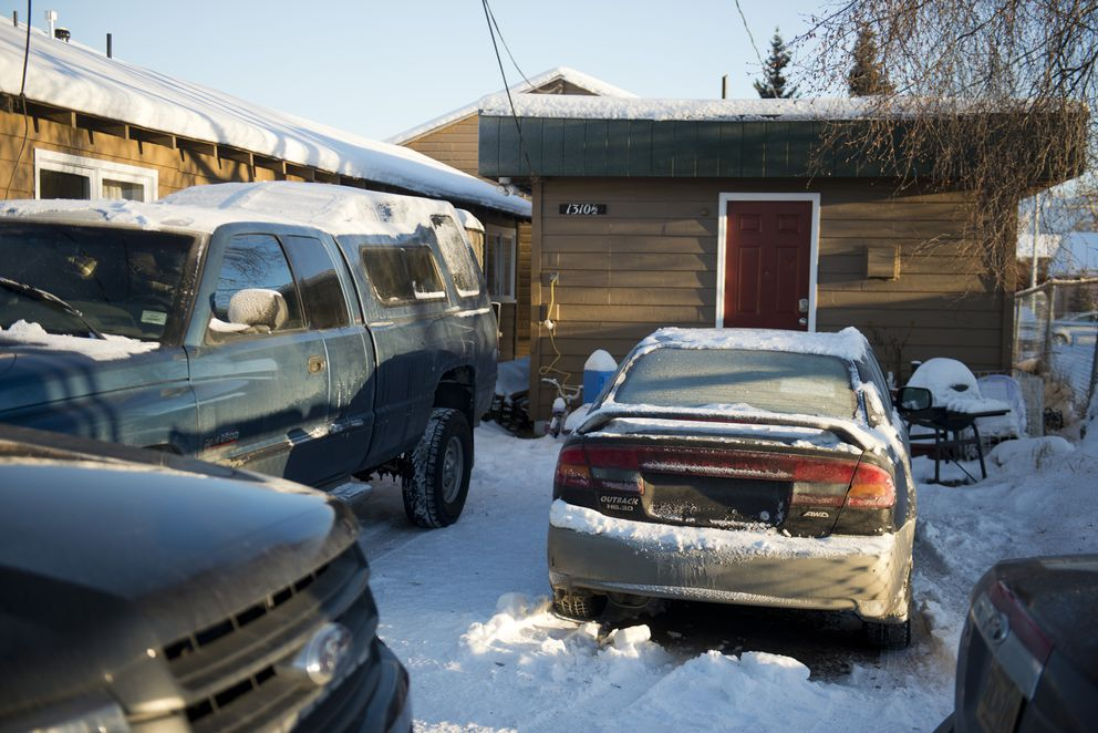 Esteban Santiago lived at a small home in Fairview at 1310 1/2 Medfra St. in Anchorage. Anchorage police secured the scene there Friday while agents worked inside the home. (Marc Lester / Alaska Dispatch News)