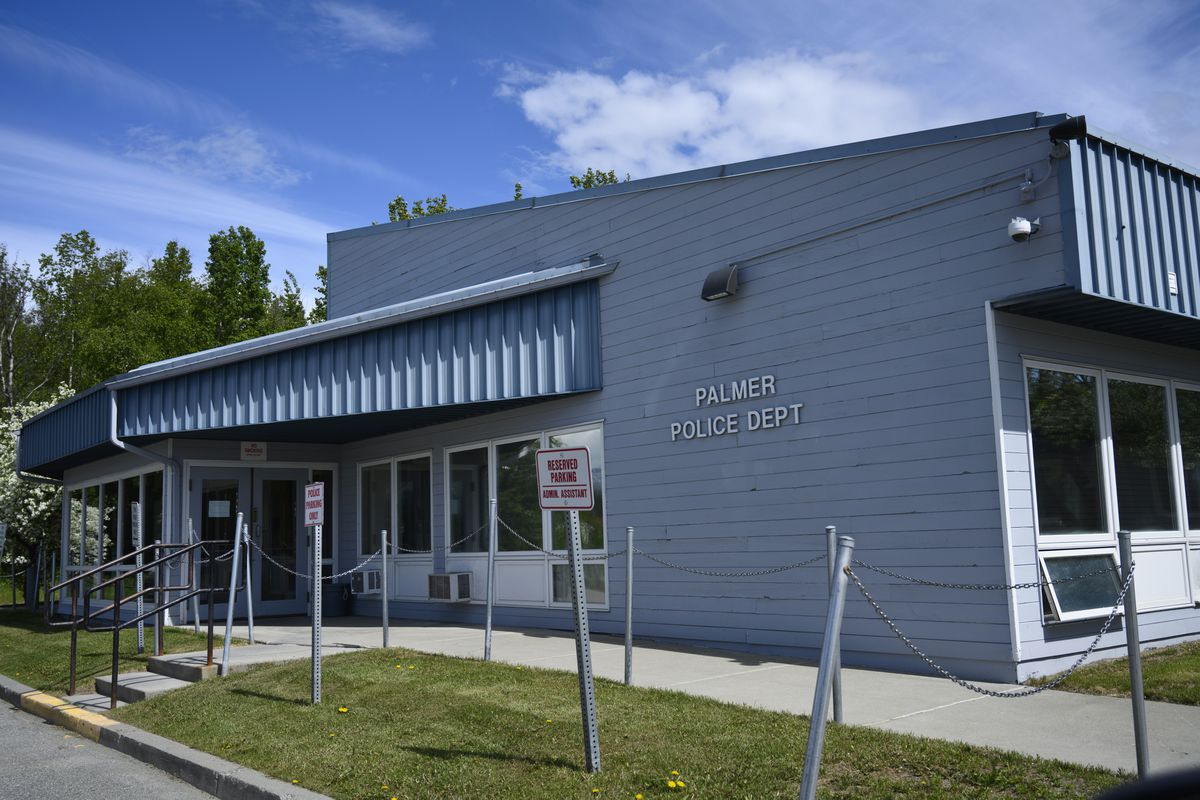 The Palmer Police Department headquarters in Palmer, photographed on June 3, 2020. (Marc Lester / ADN)