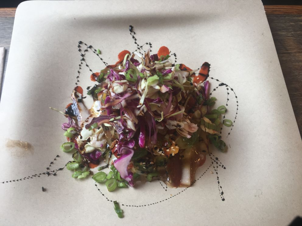Salmon poke at Froth & Forage, located off the Seward Highway in Indian. (Photo by Mara Severin)