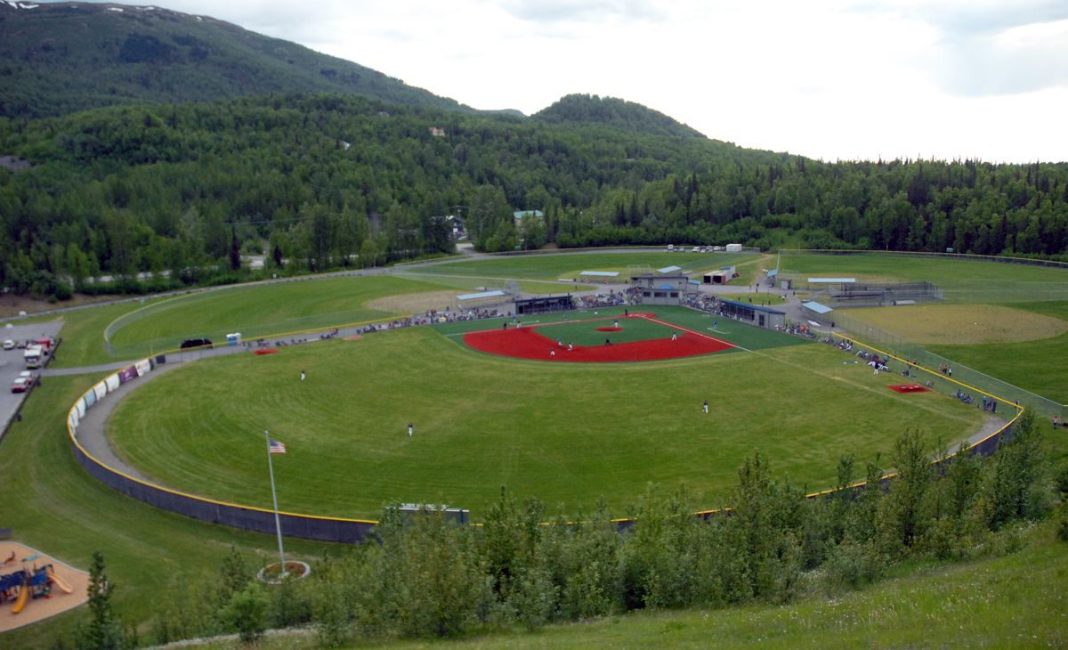Alaska Baseball League game between the Chugiak-Eagle River Chinooks and Anchorage Glacier Pilots on Thursday, June 6, 2019 at Lee Jordan Field at Loretta French Park in Chugiak. (Matt Tunseth / Chugiak-Eagle River Star)