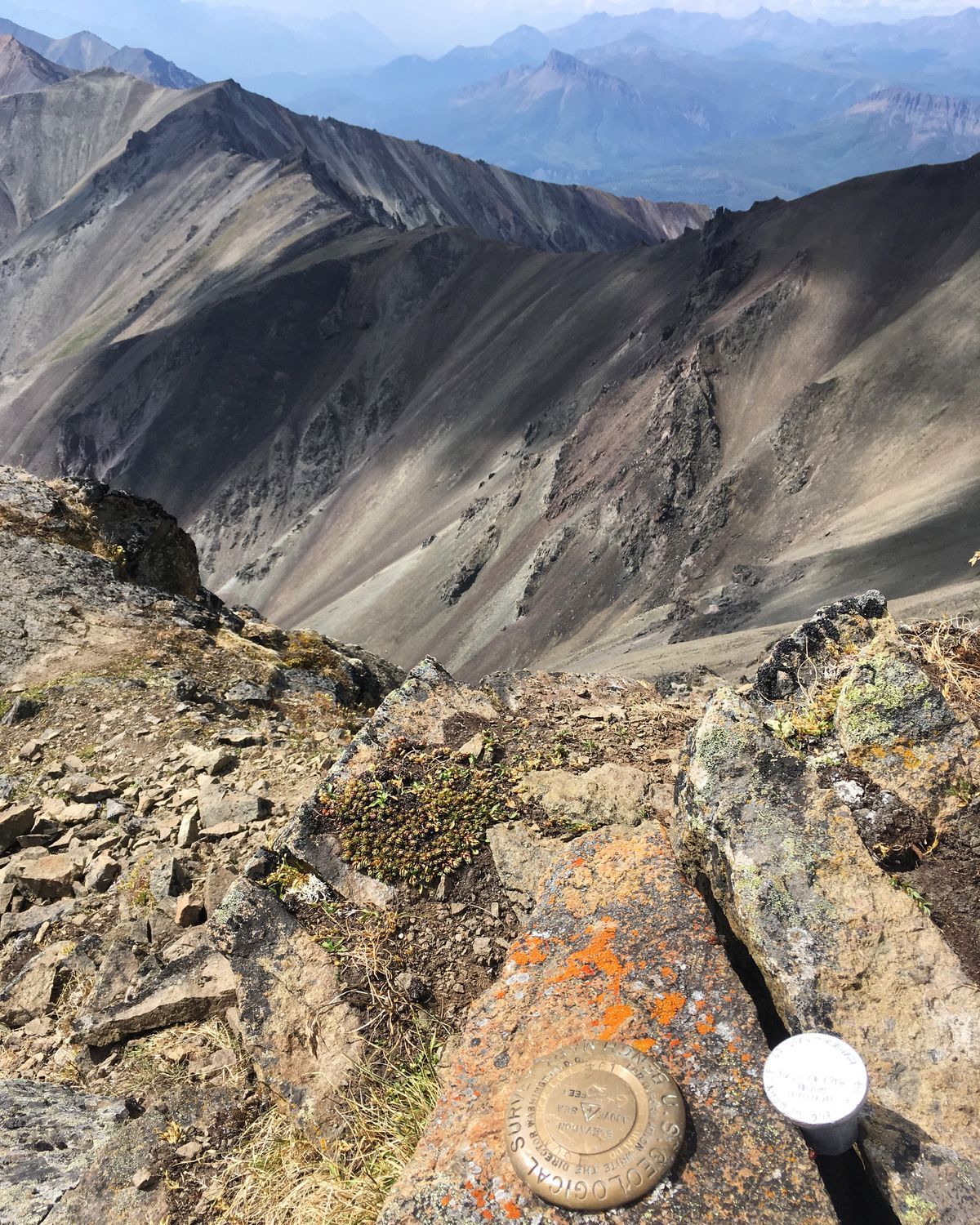 The view from the summit of Gunsight Mountain, summer 2019. (Photo by Alli Harvey)