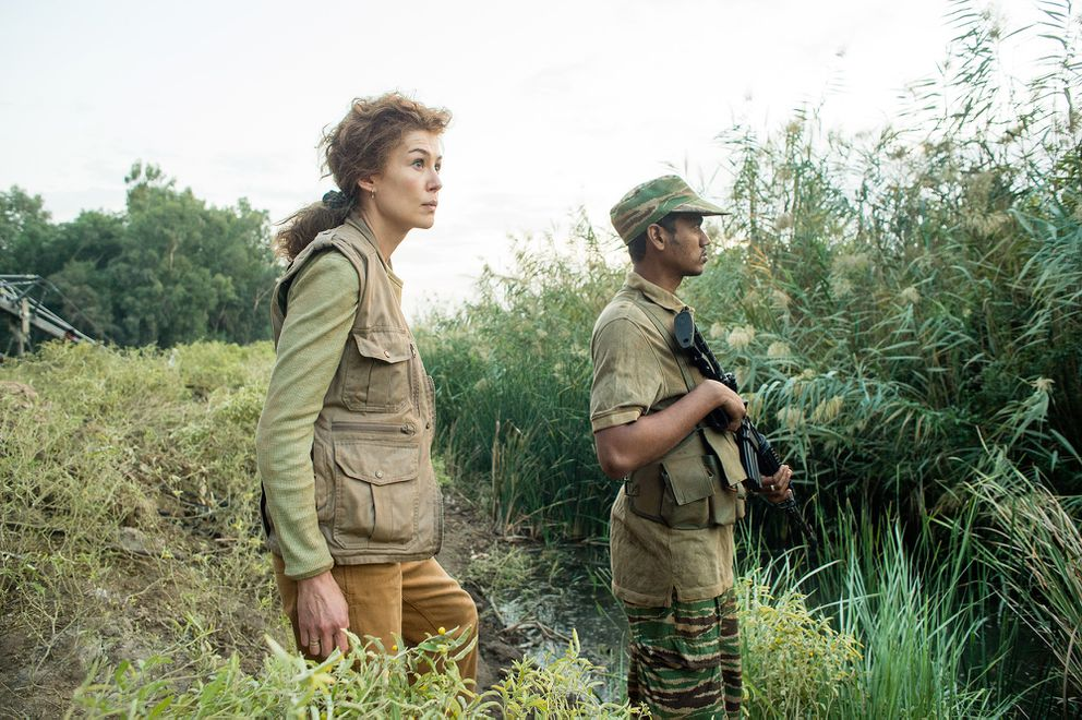 Rosamund Pike conveys Marie Colvin's desires to make war's 'suffering part of the record, ' as well as her dangerous compulsion to be close to it. (Paul Conroy, Aviron Pictures)