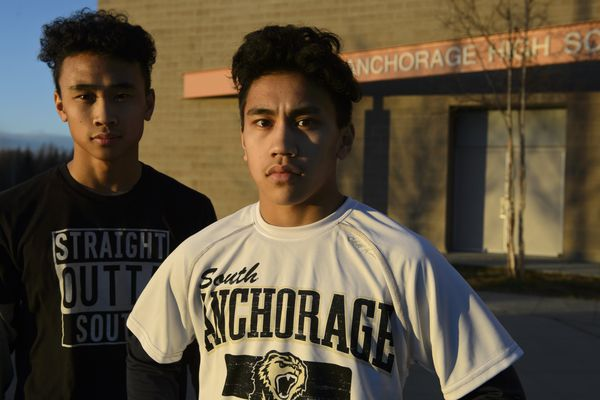 South High School brothers Aedyn, left, and Adam Concepcion are headed to state championship wrestling competition. Photographed on Dec 13, 2017. (Marc Lester / ADN)