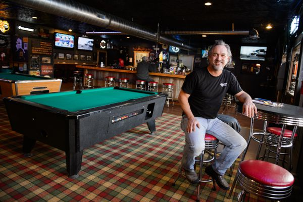 Paul Berger is the owner of the recently reopened Carousel Lounge on Spenard Road. Photographed on April 25, 2018. (Marc Lester / ADN)