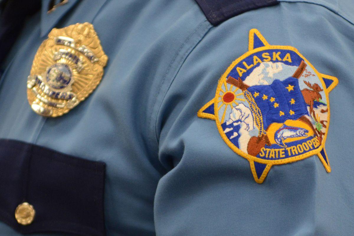 Alaska State Trooper patch and badge Dec. 20, 2019. (Anne Raup / ADN)