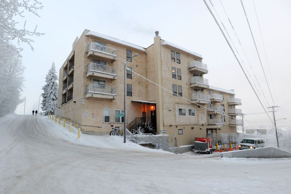 The Cordova Center transitional facility sits on the bluff above Ship Creek downtown. (Erik Hill / Alaska Dispatch News)