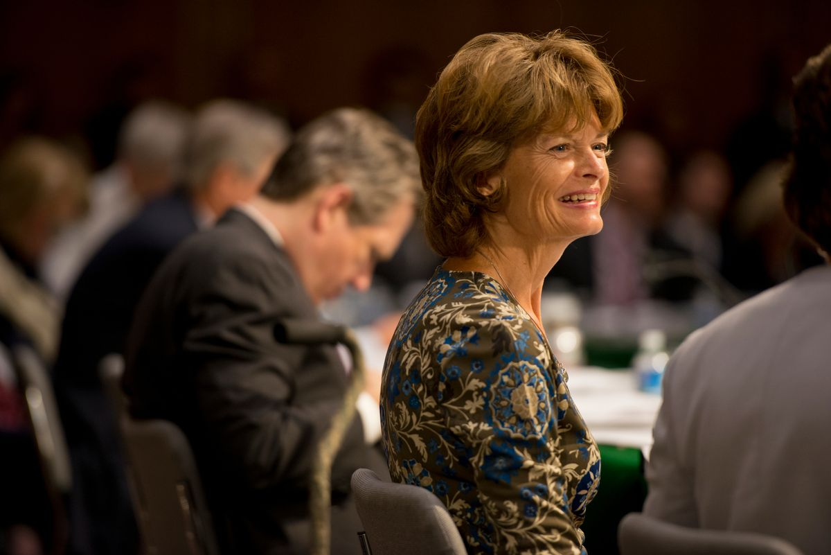Sen. Lisa Murkowski participates in a Senate Appropriations Committee meeting in the Dirksen Senate office building on June 25, 2015. (Marc Lester / ADN archive)