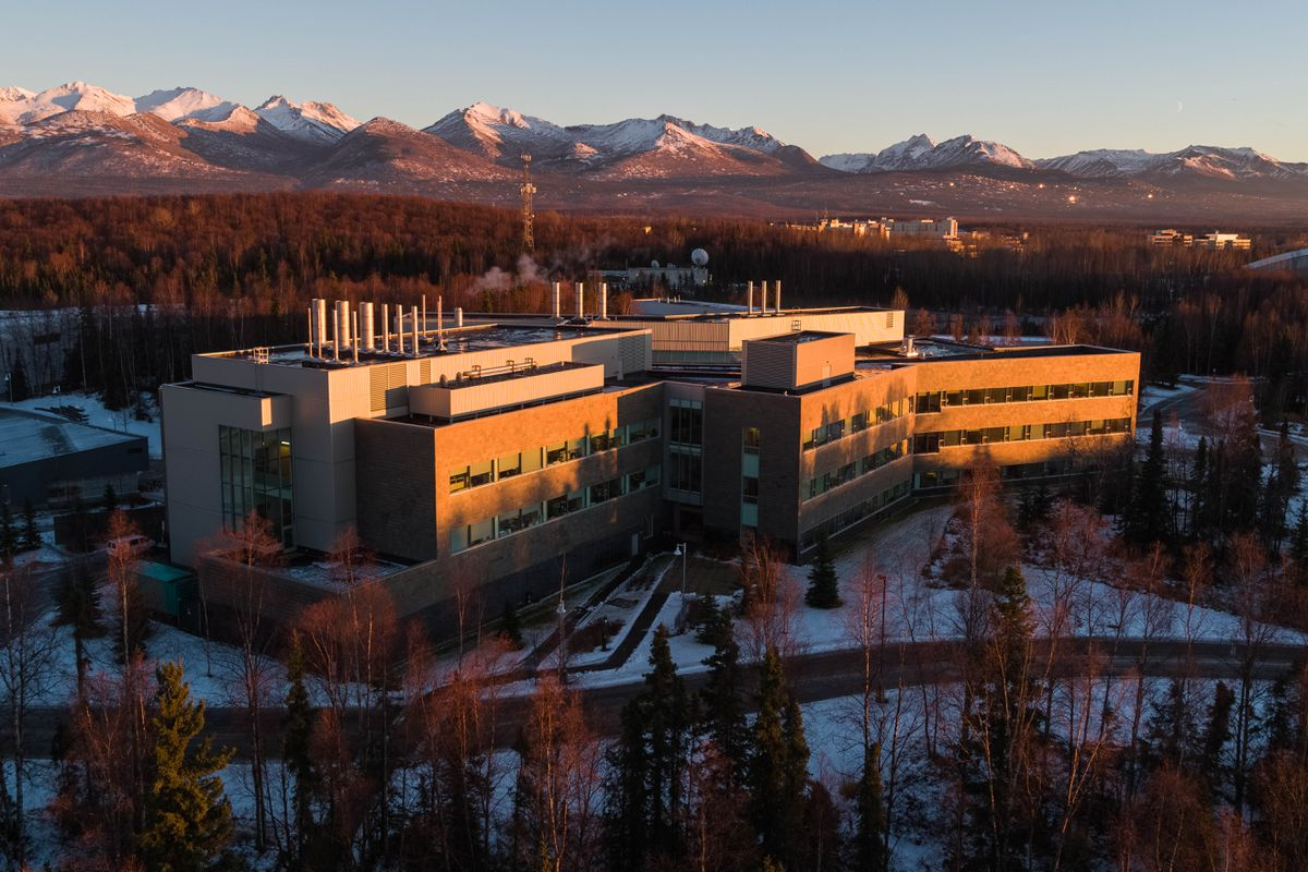 The ConocoPhillips Integrated Science Building at the University of Alaska Anchorage on Tuesday, Nov. 14, 2018. (Loren Holmes / ADN)