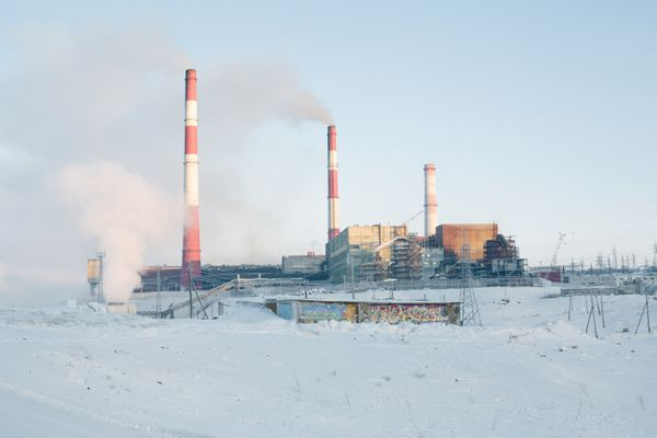 The Norilsk Nickel plant employs many residents of Nikel, Russia, and is the source of environmental and health concerns. (Photo for The Washington Post by Ksenia Ivanova)