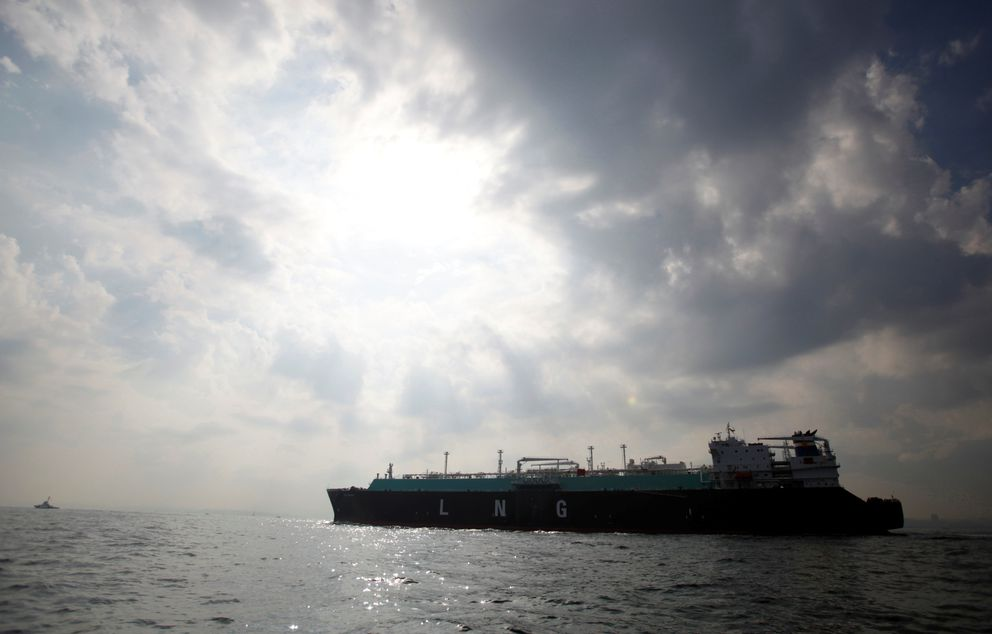 A liquefied natural gas (LNG) carrying vessel sails at Tokyo Bay, offshore of Yokosuka, south of Tokyo, Japan October 22, 2012. REUTERS/Issei Kato/File Photo
