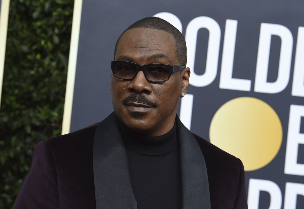 Eddie Murphy arrives at the 77th annual Golden Globe Awards at the Beverly Hilton Hotel on Sunday, Jan. 5, 2020, in Beverly Hills, Calif. (Photo by Jordan Strauss/Invision/AP)